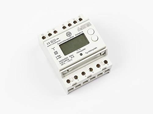 DZG DVH4013 G1.5 Digitaler Stromzähler, Drehstromzähler für DIN Hutschiene, MID geeicht