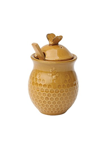 yellow ceramic jars - 5