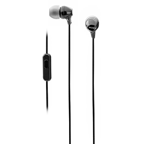 Sony MDR-EX15AP EX Wired In Ear Headphone with Mic (Black)