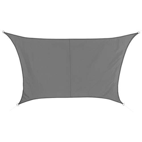 BB Sport Sonnensegel 4m / 5m x 3m Granit Trapez Wetterbeständig Wasserabweisend Sonnenschutz 100% PES Sichtschutz Windschutz UV Schutz Schattenspender
