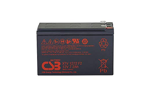 CSB XTV1272 F2 AGM - Batería de plomo (12 V, 7,2 Ah)