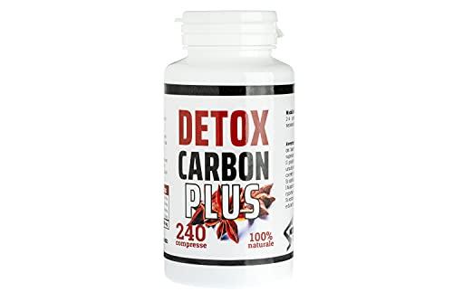 DETOX CARBON ACTIVE XXL, 240 compresse-Dimagrante Detox - bruciagrassi Per Perdere Peso Velocemente   Eccezionale Per Pancia Piatta Cosce Addominali E Purificare il Corpo Termogenico Naturale