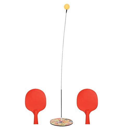 Folany Pong Trainer, Dispositivo de Entrenamiento portátil de Tenis de Mesa para niños con 2 Raquetas y 3 Pelotas para Adultos y niños para Jugar en Interiores y Exteriores