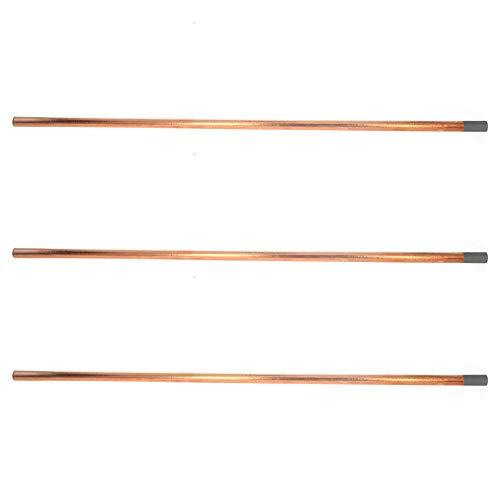 Utoolmart 355 mm de longitud de arco de aire varillas de 8 mm de diámetro con revestimiento de cobre de carbono, electrodo redondo puntiagudo, varilla de soldadura de carbono, 3 unidades
