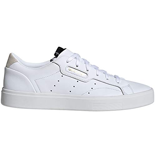 adidas Stan Smith Weiß Schuhe Damen. Sneaker. Low-Top, Trainer, Tennis.g (38 2/3 EU, Sleek W White)