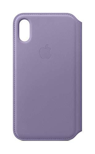 Apple Leren Folio-hoesje (voor iPhone XS) - Lila
