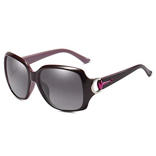 XIAONK gepolariseerde zonnebrillen_Factory groothandel vrouwen gepolariseerde zonnebrillen Wild Classic 3609 Polarized Driving Polarized Sun Zwart paars binnenin