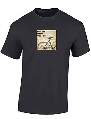 T-Shirt: Save The Planet, Ride a Bike - Fahrrad Geschenke für Damen & Herren Mann Männer Frau-en - Einstein Radfahrer Mountain-Bike MTB Rennrad Fixie E-Bike Outdoor Sport Urban Streetwear (XXL)
