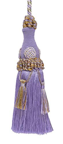 Decorative 15cm Key Tassel / Lilac Gold / Baroque Collection Style# BKT Color: WINTER LILAC - 8426