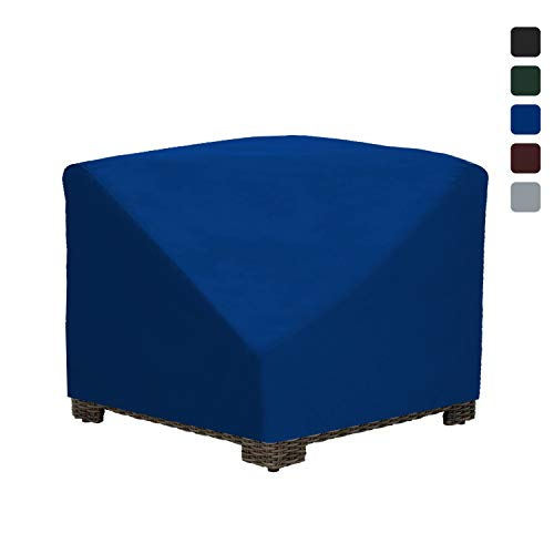 Patio Corner Sectional Cover 18 Oz Waterproof - 100% UV & Weather Resistant Patio Chair Cover with Air Pockets and Drawstring for Snug Fit (36W x 36D x 30H, Blue)