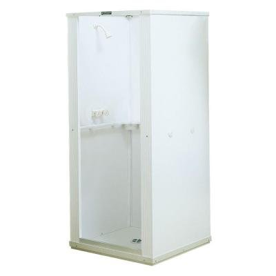 32 In. X 32 In. X 75 In. Shower Stall with Standard Base in White