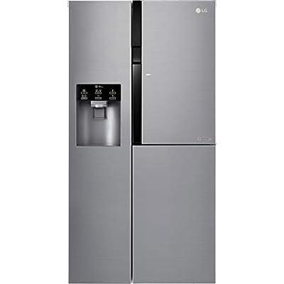 LG Electronics Electronics GSJ560PZXV Freestanding A+ Rated American Fridge Freezer - Steel