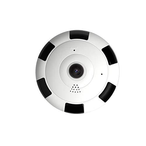 Angel&J Cámara IP inalámbrica WiFi, monitor de seguridad interior con 1080P HD Mini visión panorámica de ojo de pez de 360 grados, monitor de mascotas/anciano/perro/bebé