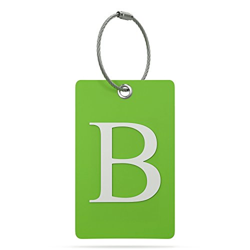 Luggage Tag Initial – Fully Bendable Tag w/Stainless Steel Loop (Letter B)