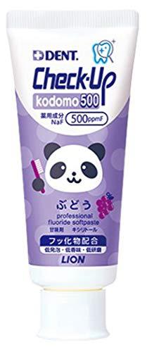 LION DENT.EX チェックアップ kodomo500 ぶどう 1本(60g) (1本)