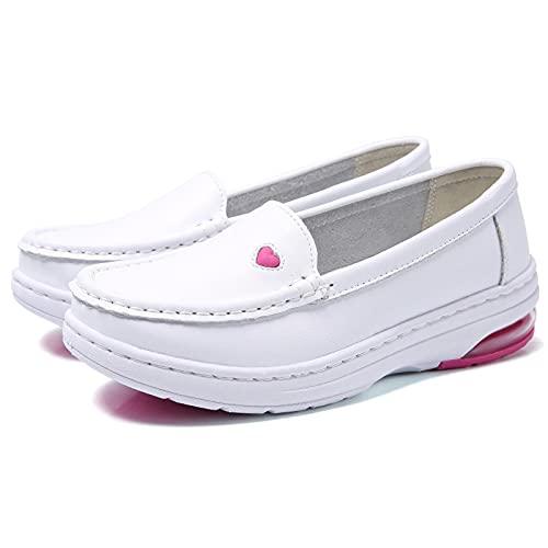 UELEGANS Arbeitsschuhe Krankenschwester Schuhe Fashion Damen Wedge Leicht Freizeit Sneaker Schuhe Für Krankenschwestern Ärzte Oder Pflegekräfte, 33-41,39