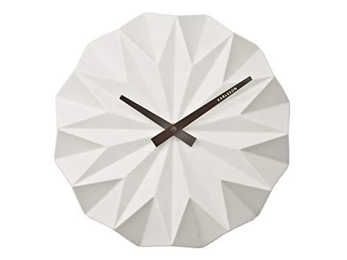 Karlsson Origami Uhr, Wanduhr, Keramik, Weiß, One Size