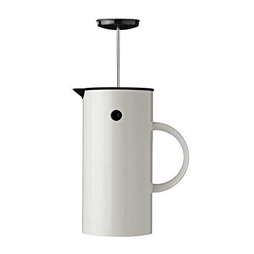ZoSiP Francuska prasa do kawy Start Nordic Style Francuski filtr zbiornik ciśnieniowy 1 l francuski dzbanek ciśnieniowy ekspres do kawy (kolor : biały, rozmiar: 1000 ml)