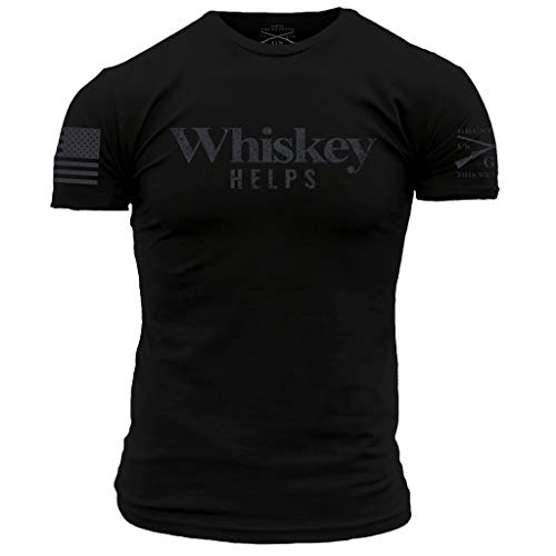 Grunt Style Whiskey Helps Men's T-Shirt, Color Black, Size X-Large