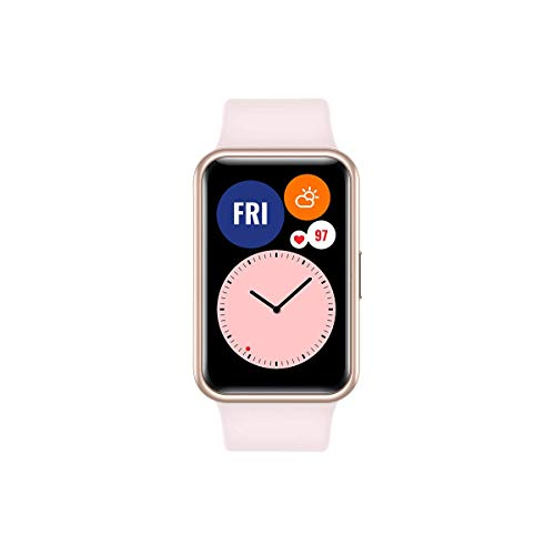 """HUAWEI Watch FIT - Smartwatch con Cuerpo de Metal, Pantalla AMOLED de 1,64"""", hasta 10 días de batería, 96 Modos de Entrenamiento, GPS Incorporado, 5ATM, Color Rosado"""
