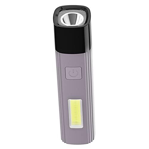 Abaodam Mini Linterna Tipo- Linterna de Carga Linterna Led USB Recargable Ultra Brillante Flash Luz para Camping Aire Libre Senderismo Ciclismo
