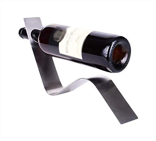 YLCJ Estante para Vino Soporte de Botella de Estante de Vino Creativo Europeo de Acero Inoxidable Longitud 33.4 X Ancho 5 X Altura 15 Cm