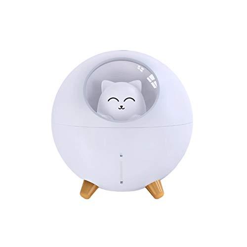croselyu Chat Pet Multi-Mode Coloré LED Veilleuse Petit Mini Spray USB Humidificateur Bureau Bureau Dessin Animé Atmosphère Lumière Décompression Cadeau
