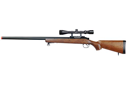 Well MB03 Airsoft Sniper Rifle W Scope - Wood