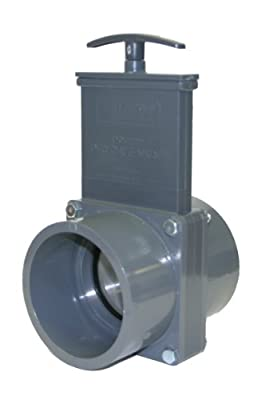 Valterra 8301SX PVC Gate Valve, 90 mm Slip w/ Stainless Steel Paddle & Gate Keeper, PVC from Valterra Products