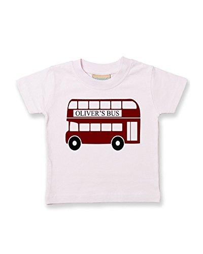 Ice-Tees T-shirt en coton doux pour enfant Motif bus rouge - Rose - 2-3 ans