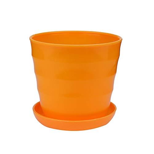 Plantando macetas, ollas de brotes. Flor de la planta Mini redondo colorido crisol plástico jardín Hogar decoración de la oficina del plantador de escritorio crisoles de flor decorflower # J2S potativ