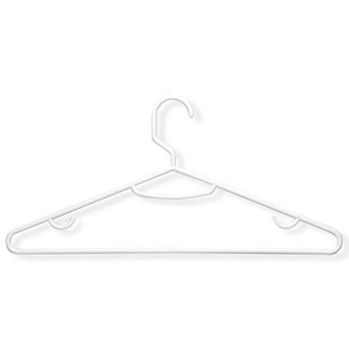 Honey-Can-Do HNG-01523 Recycled Plastic Hangers 15-Pack White