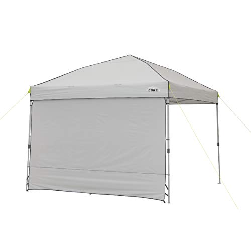 Core Instant Straight Leg Canopy Tent with Removable Sun Wall, 10 ft x 10 ft