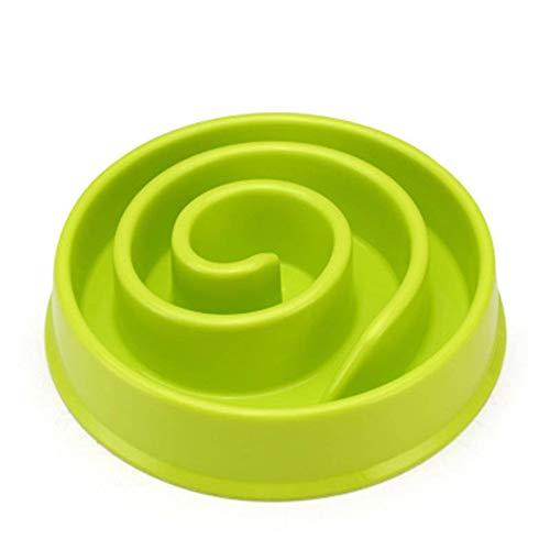 N\\C Hunde und Katzen Slow Feeder Pet rutschfeste Plastikschüssel Puzzle-Form, um das Verschlucken des Welpen zu verhindern Design-Haustierschüssel