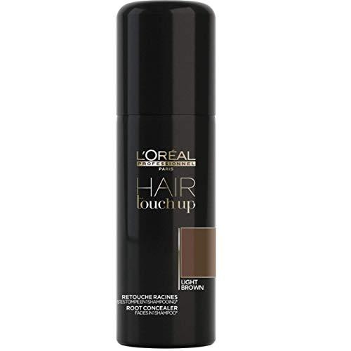 L'Oréal Professionnel Paris Hair Touch Up, Spray professionale per ritocco colore di capelli e radici, Castano Chiaro - 75 ml