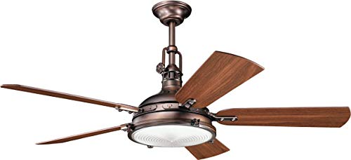 Kichler 300018OBB, Hatteras Bay Oil Brushed Bronze 56' Ceiling Fan w/Light & Remote Control
