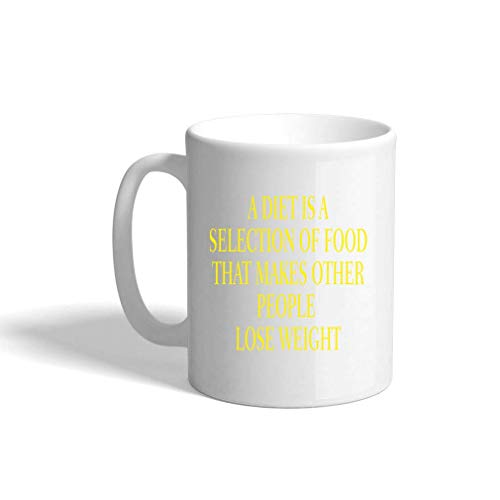 VTXINS Yellow A Diet is een selectie van food die andere people los gewicht keramische koffie Cup White Mok