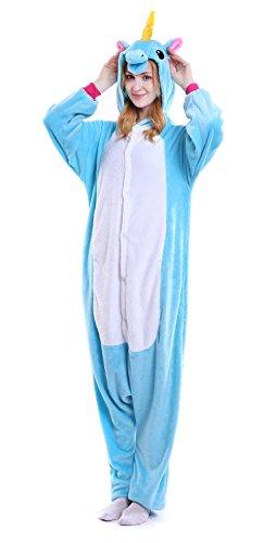 Dingwangyang Adult Unicorn Pajamas Animal Costume Cosplay Onesie Kigurumi Halloween Gift Star Pegasus M