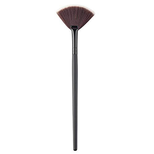 Nouveau pinceau de maquillage simple mélange/contour/fard à joues poudre secteur pinceau de maquillage brosse douce brosse de fondation pinceaux maquillage outil - noir S