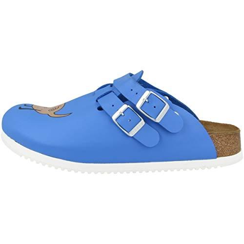 Birkenstock Damen Kay Birko-Flor Clogs, Blau (Dog Blue), 38 EU