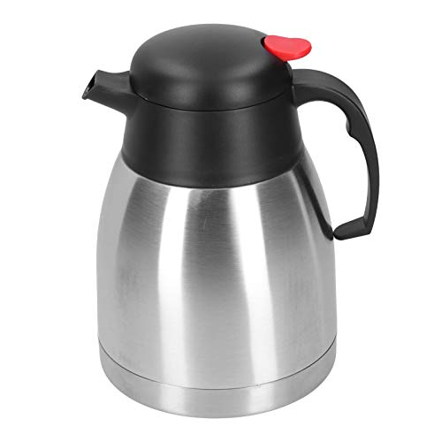 Jarra térmica de gran capacidad, hervidor de agua con aislamiento al vacío de acero inoxidable 304, olla de agua con aislamiento para el hogar, termo para café, té, hotel(1.5L)