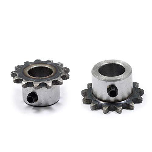 WNJ-TOOL, 2 stück 04c Kettenrad 16teeth Loch 6/8/10 / 12mm 25h 45# Stahlkettenrad 04c Tischrad Fertig Lochkettenrad Schraubenloch M5 (Größe : 10mm)