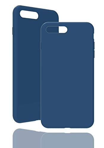 inv. [Compatible con Apple iPhone 7/8 Plus, en azul original, funda de silicona de alta calidad, acabado perfecto, carcasa de silicona simple.
