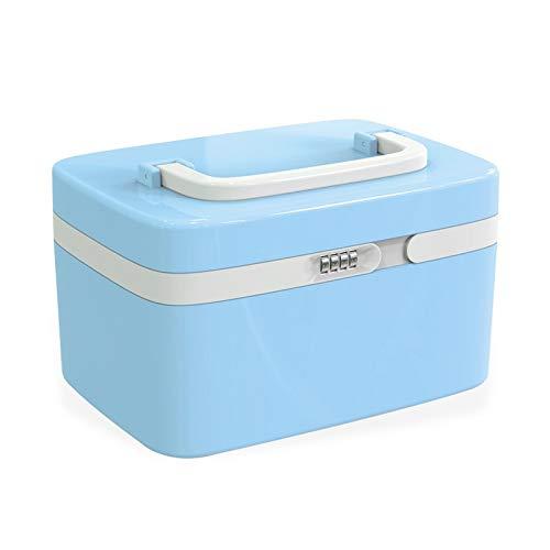 Medicine Box Home-medische doos met slot, medische EHBO-set, plastic trompet, medicijndoos, medicijnbewaardoos