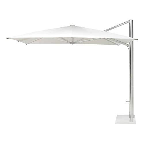 emu Shade Sonnenschirm mit Seitenmast 300x320cm, weiß Aluminium Stoff Polyester weiß LxBxH 300x320x272cm Gestell Aluminium ohne Schirmständer