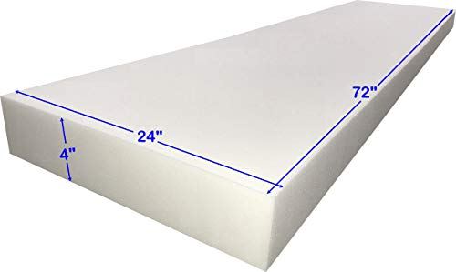 FoamTouch 4x24x72MDF Upholstery Foam, 1 Count (Pack of 1), White