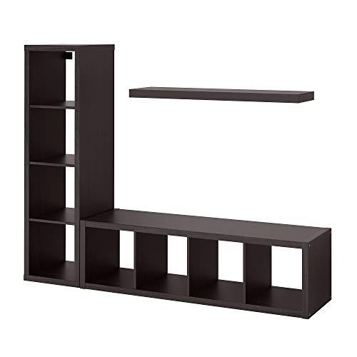 SACK/KALLAX förvaringskombination med hylla 189 x 39 x 147 cm svartbrun