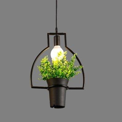 Luckyfree creatieve strijkijzeren kunst planten hanglamp kamer bar café restaurant keuken hal lampen plafondlamp kroonluchter, EEN + LED Dragon parels blaas