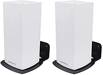 Linksys WiFi 6 Wall Mount - Metal Mounting Holder for Linksys MX5 Velop Ax Linksys Velop WiFi 6 Mesh Router for Enlarging WiFi Coverage Made of Alluminum Alloy 2 Pack