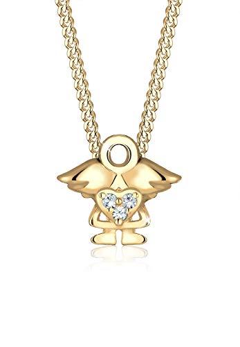 Elli Halskette Kinder Engel Kristalle 925 Silber